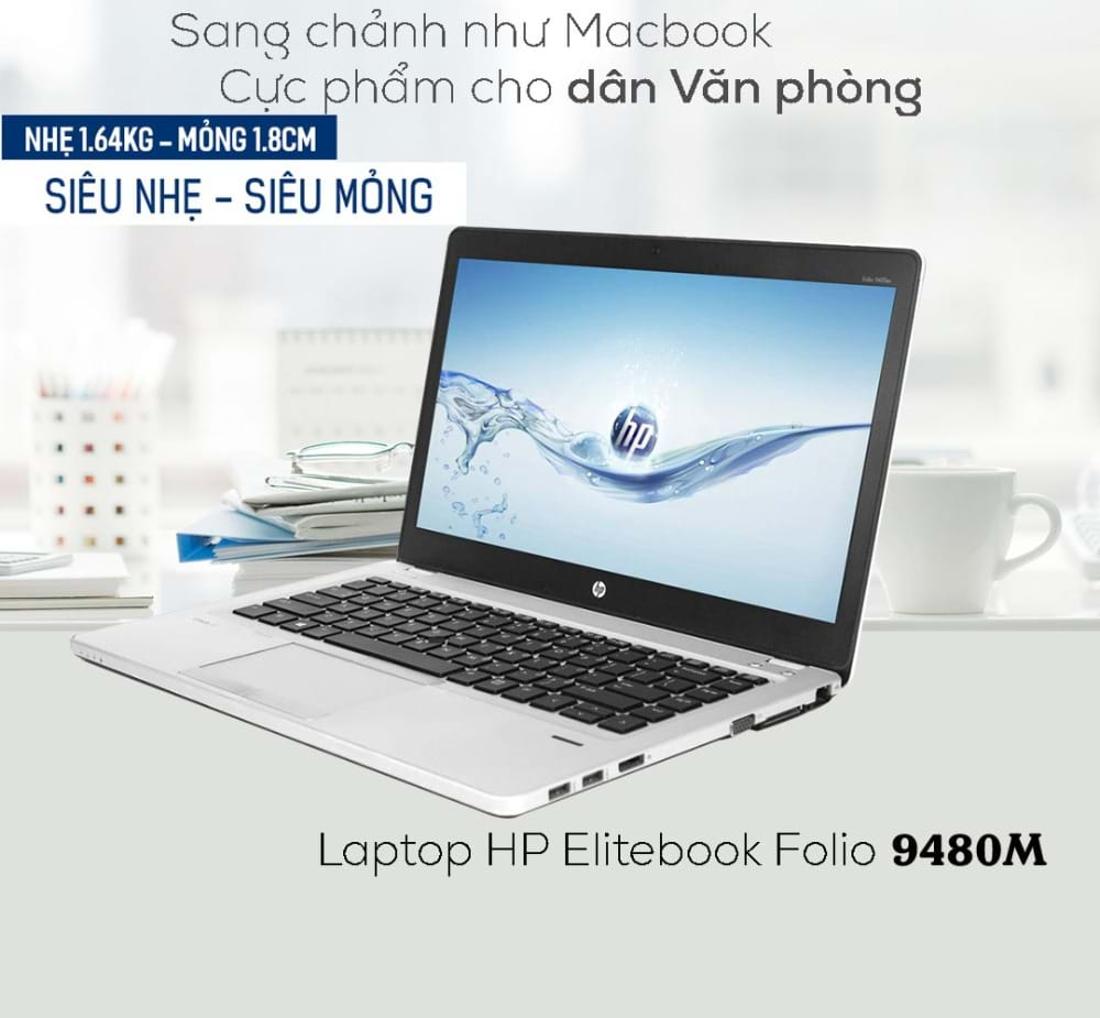 "Laptop HP EliteBook Folio 9480M Core i5-4310U/ 4 GB RAM/ 180 GB SSD/ Intel® HD Graphics 4000/ 14"" HD"