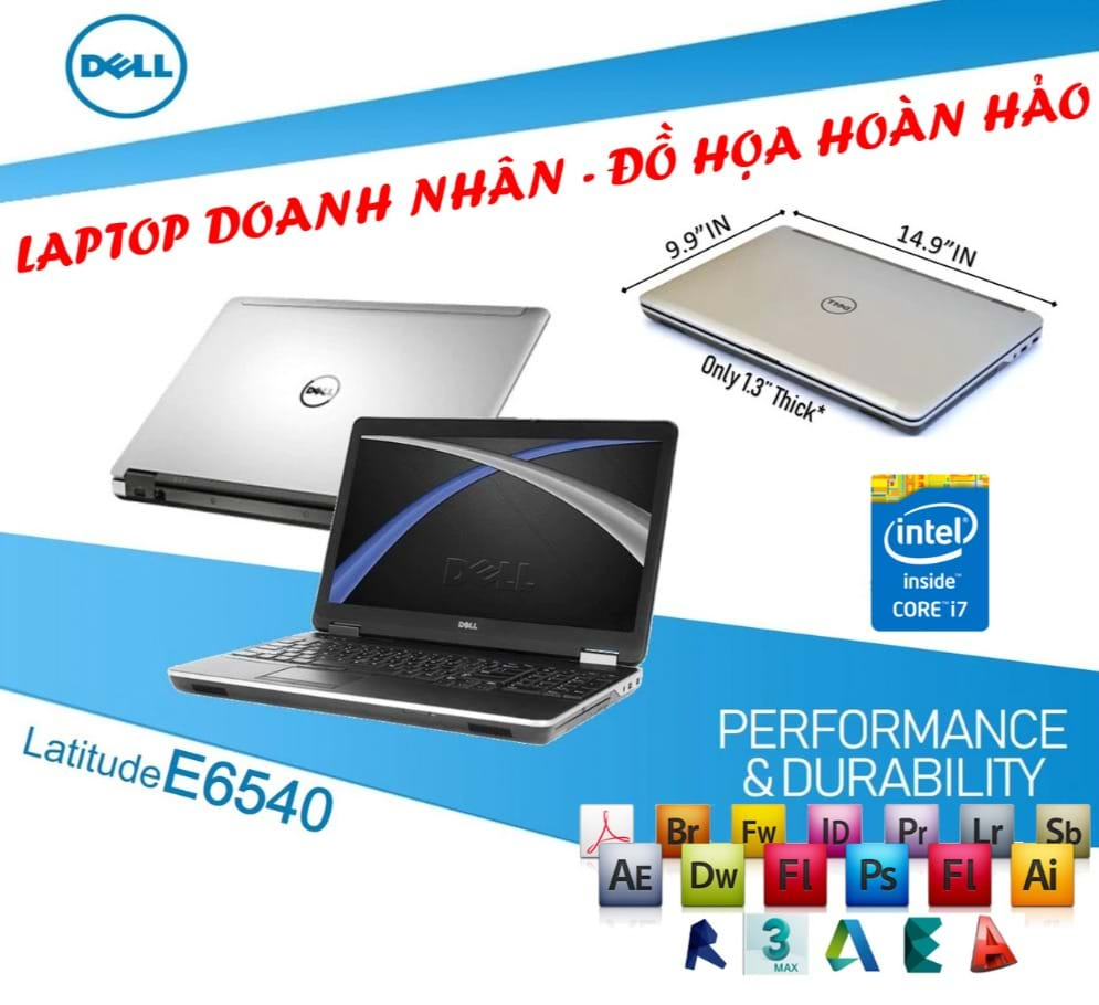 "Laptop Dell Latitude E6540 Core i7-4610M/ 8 GB RAM/ 240 GB SSD/ AMD Radeon HD 8790M/ 15.6"" FHD"